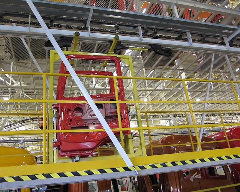 Heavy truck door line stacking chain